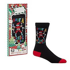 Debenhams - Black 'Cracking Christmas' socks