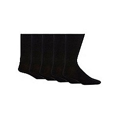 Freshen Up Your Feet - Black pack of five chunky knit socks