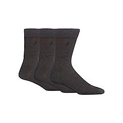 J by Jasper Conran - Pack of three grey luxury cotton rich socks