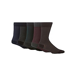 Freshen Up Your Feet - Pack of five honeycomb print socks