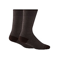 Maine New England - Pack of two brown thermal socks