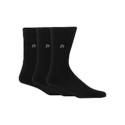 Hammond & Co. by Patrick Grant - Pack of three black bamboo rich socks