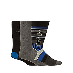 Calvin Klein - Pack of three blue assorted socks