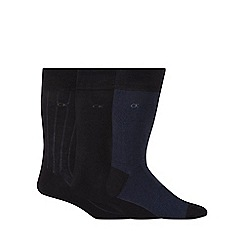 Calvin Klein - Pack of three navy birdseye woven socks