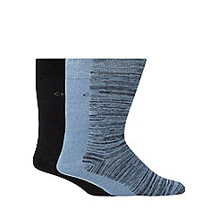 Calvin Klein - Pack of three blue space dye socks