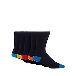 Freshen Up Your Feet - Pack of five navy socks