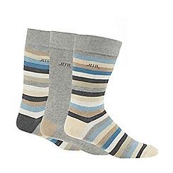 RJR.John Rocha - Pack of three blue striped socks