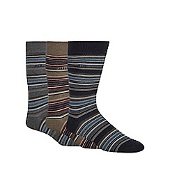 RJR.John Rocha - 3 pack blue striped socks