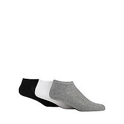 Debenhams Sports - Pack of three assorted trainer socks