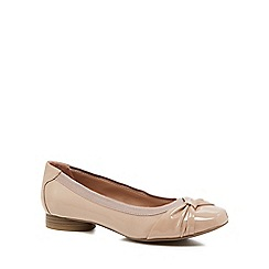 Good for the Sole - Nude patent 'Gabs' wide fit pumps