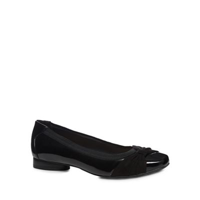 Wide FitGood for the Sole - Black patent 'Gabs' wide fit pumps