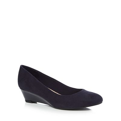 Good for wide the Sole - Navy suedette 'Gretchen' mid wide for fit court shoes 7a1702