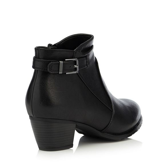 the heel 'Gerdie' fit mid for Good Black wide ankle boots Sole block 0CBw5nnTqx