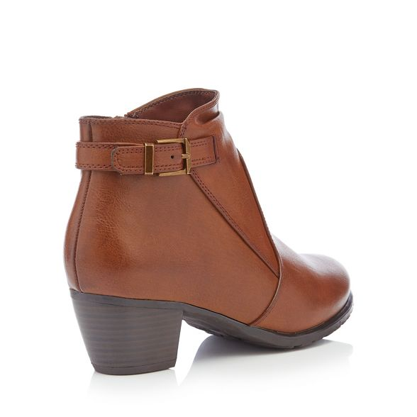 fit 'Gerdie' brown Chocolate mid block boots the for Sole ankle heel wide Good XRxpwTvqn