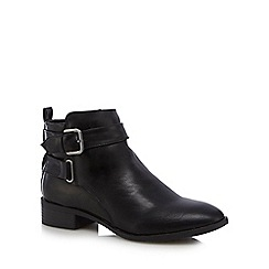 The Collection - Black 'Crawford' buckle ankle boots