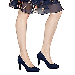 The Collection - Navy suedette 'Carten' high stiletto heel court shoes