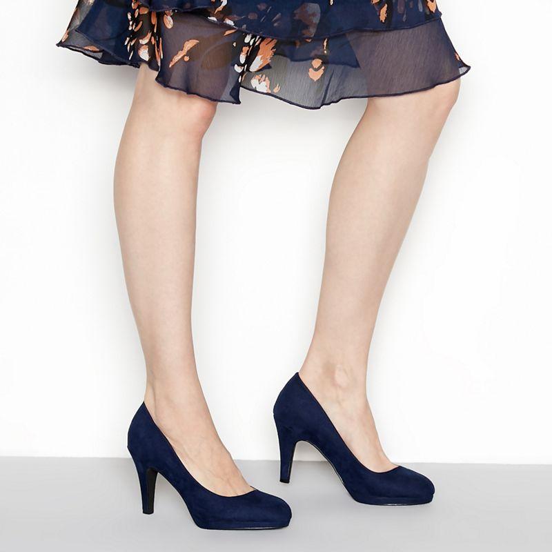 The Collection - Navy Suedette Carten High Stiletto Heel