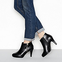 The Collection - Black 'Charlene' high stiletto heel wide fit shoe boots