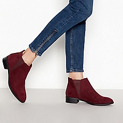 The Collection - Red 'Christy' low block heel Chelsea boots