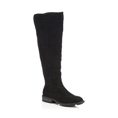 Mantaray - Black suedette 'Maddox' knee high boots