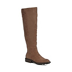 Mantaray - Taupe suedette 'Maddox' knee high boots