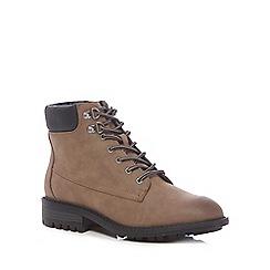 Mantaray - Brown 'Megan' lace up boots