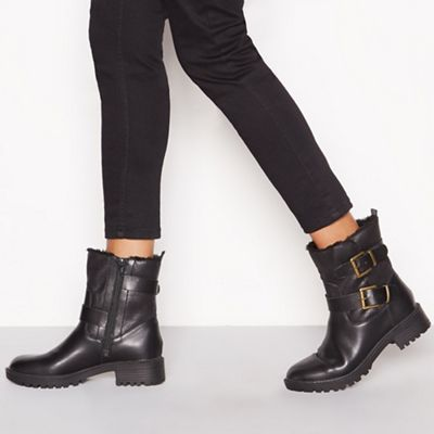 Mantaray - Black Black - 'Mikey' biker boots b55be5