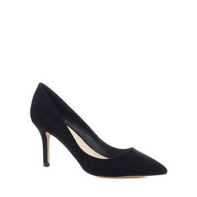 Faith - Black suedette 'Chariot' high stiletto heel court shoes