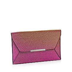 Faith - Pink glitter 'Party' envelope clutch bag