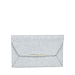 Faith - Silver glitter 'Party' envelope clutch bag