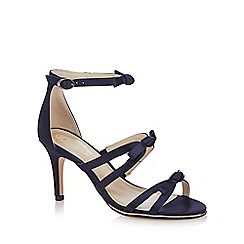 Debut - Navy 'Drew' high stiletto heel ankle strap sandals