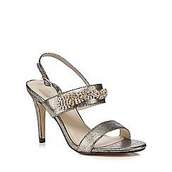 Debut - Gold metallic 'Devon' high stiletto heel sandals