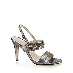 Debut - Silver metallic 'Devon' high stiletto heel sandals