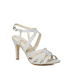 Debut - Silver glitter 'Dwayne' high stiletto heel court shoes