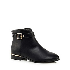 Faith - Black 'Wendy' wide fit ankle boots