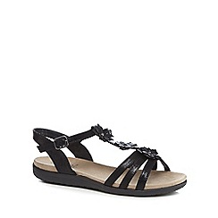 Good for the Sole - Black 'Gaisy' wide fit ankle strap sandals