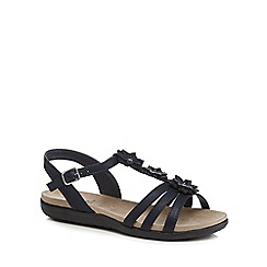Good for the Sole - Navy 'Gaisy' wide fit ankle strap sandals