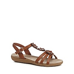 Good for the Sole - Tan 'Gaisy' wide fit ankle strap sandals