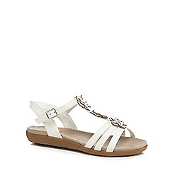 Good for the Sole - White 'Gaisy' wide fit ankle strap sandals
