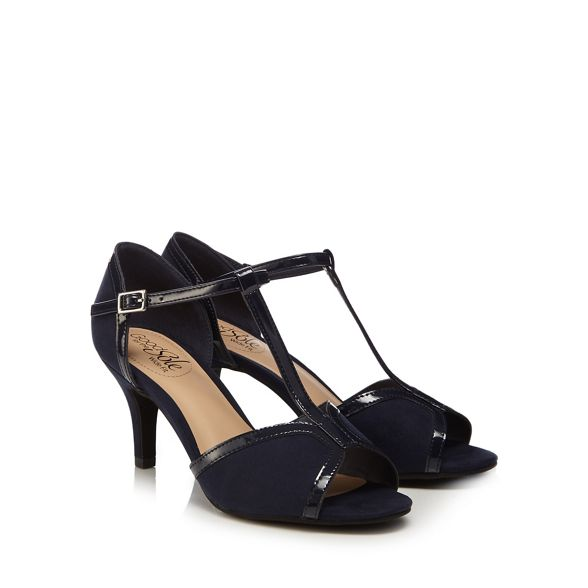 fit Sole bar Good suedette t wide for 'Gio' sandals high heel Navy the stiletto ZECnpxCq
