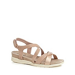 Good for the Sole - Pink 'George' wide fit ankle strap sandals