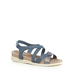 Good for the Sole - light blue 'George' wide fit ankle strap sandals