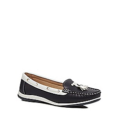Good for the Sole - Navy 'Gondola' wide fit loafers