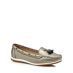 Good for the Sole - Metallic 'Gondola' wide fit loafers