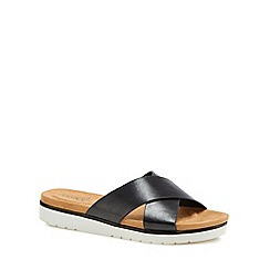 Good for the Sole - Black 'Globe' wide fit sandals