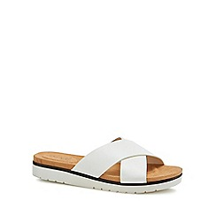 Good for the Sole - White 'Globe' wide fit sandals
