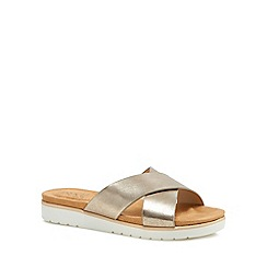 Good for the Sole - Silver 'Globe' wide fit sandals