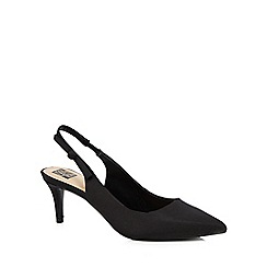 The Collection - Black 'Christian' mid heel slingbacks