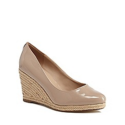 The Collection - Pink patent 'Cruise' high wedge heel espadrilles