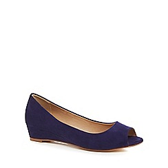 The Collection - Navy suedette 'Crayon' peep toe sandals